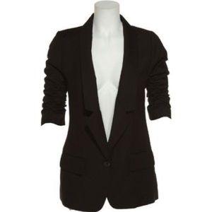 BB Dakota Twill Blazer with Ruched Sleeves